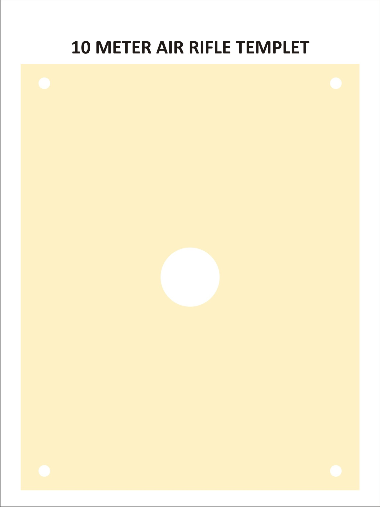 Air Rifle Template ( 10 Metres)
