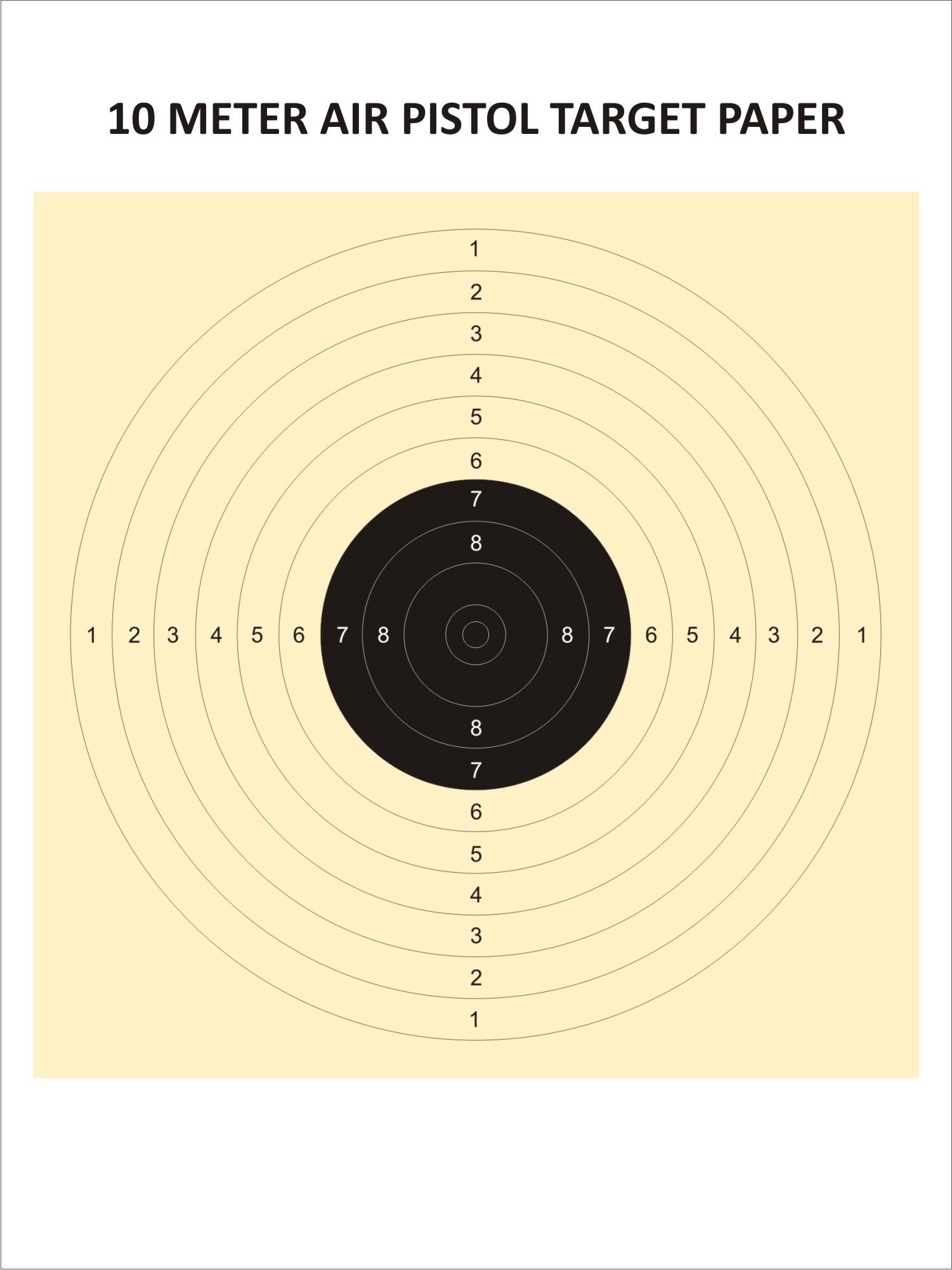Air Pistol Target (10 Metres)
