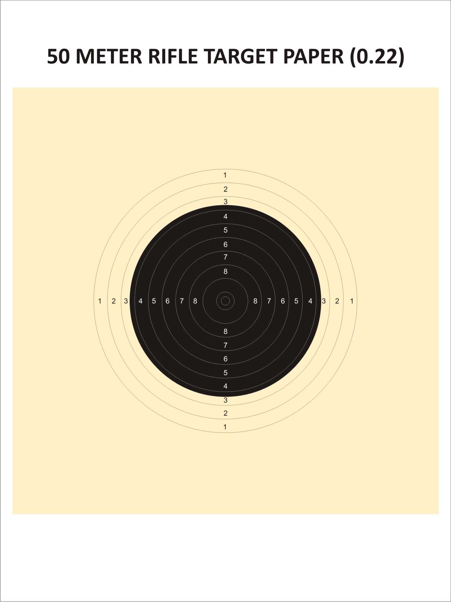 Rifle Template (50 Metres)