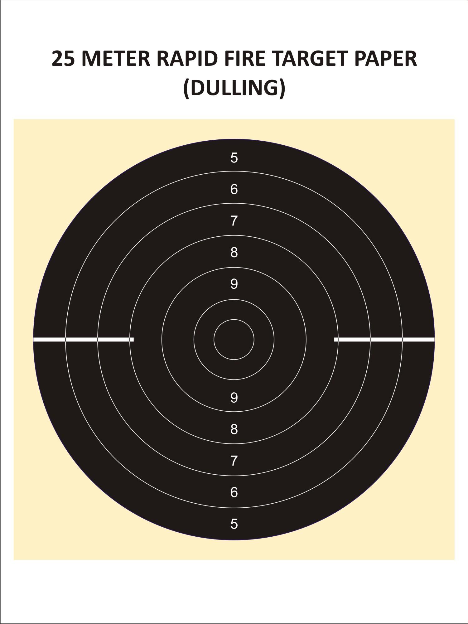 Rapid Fire Dulling Target (25 Metres)